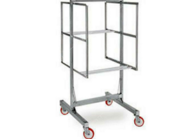 Inox trolley for meat
